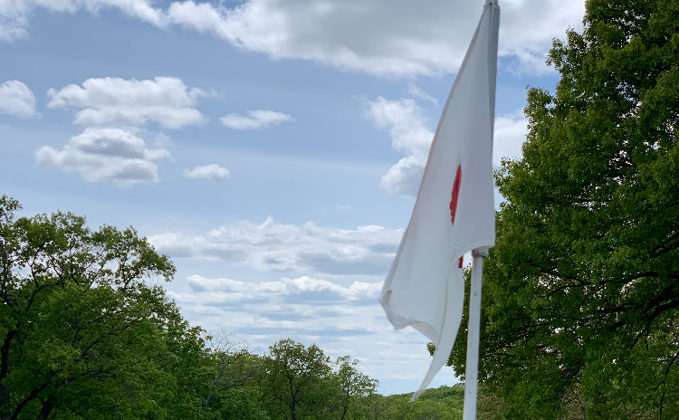View of a hole flag